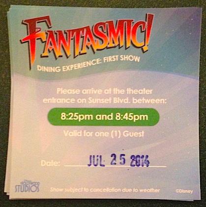 Fantasmic! Dinner Package - Disney's Hollywood Studios